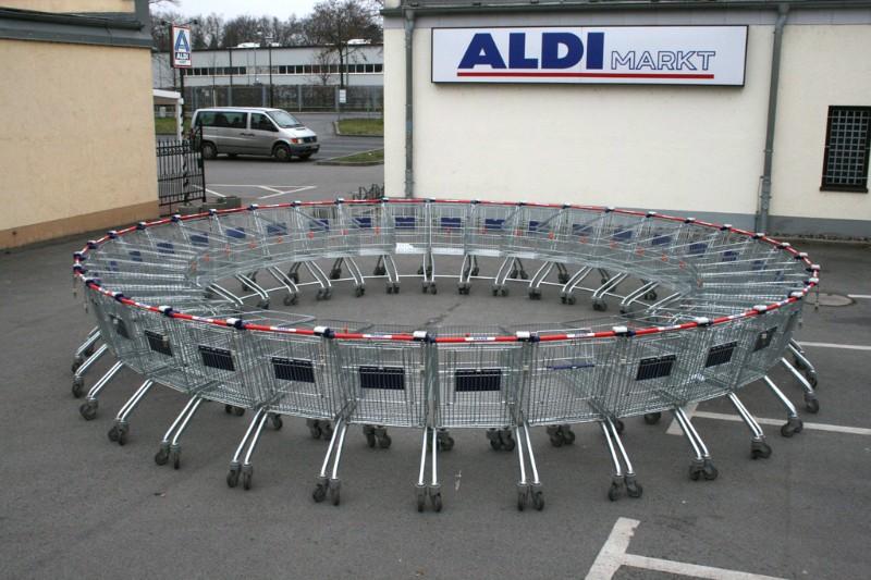 Einkaufswagen Kreise